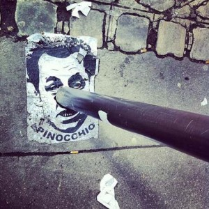 Street Art in France: Pinocchio Sarkozy | HypeDot